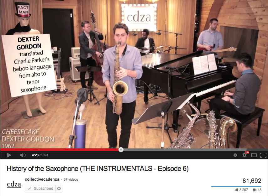 History of the Saxophone Video by Ben Flocks